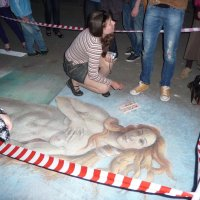Арт на асфальте. Ночь музеев 2009г. :: Alexey YakovLev