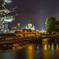 Храм Христа Спасителя на фоне Петра. :: Zifa Dimitrieva