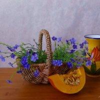 Про вазу, тыкву и корзинку с цветами :: Nina Yudicheva