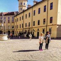 Замок Радзивиллов в Несвиже, XVI в. Во дворе замка. :: Nonna