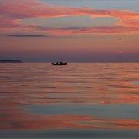 Вечерняя рыбалка на заливе. :: Юрий
