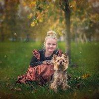 Девочка с собакой :: Виктор Седов