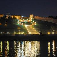 Главная лестница Нижнего Новгорода. Ночью. :: Сергей Тагиров
