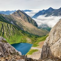 Вид с перевала Горных Туристов. Тункинские гольцы :: Виктор Никитин