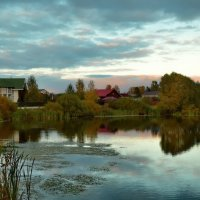 Осенний вечер на пруду :: Olcen - Ольга Лён