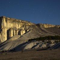Белая скала в лунном свете :: Ольга