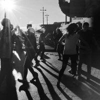 Когда в Питере выглядывает солнце, его жители танцуют. :: Юлия Зеленкова
