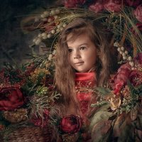 Девочка в цветах :: Roman Sergeev