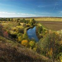 Сельский пейзаж с речкой :: Ирина Лепнёва