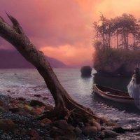 Остров таинственный любящей женщины…  Прячется в сердце, туманом укрытый... :: Татьяна Тарасенко