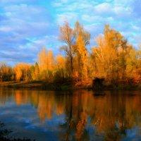 Берёзы желтою резьбой блестят в лазури голубой ... :: Евгений Юрков