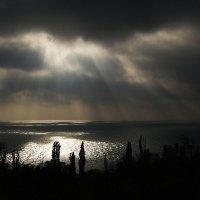 рисует солнышко лучами картину утра на воде... :: Александр Корчемный