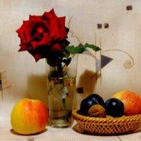 Осенняя роза в натюрморте... :: Тамара (st.tamara)