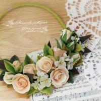 Цветочное колье с розами и яблоневым цветом :: МАРИЯ БЫЧКОВА