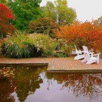 Уголок отдыха в парке цветов :: Nina Yudicheva