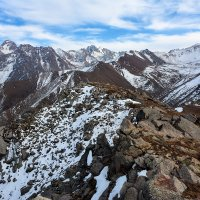 с высоты 3600 м если верить табличке :: Горный турист Иван Иванов