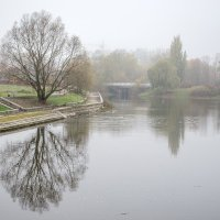 Пейзаж с легким туманом :: Сергей Тарабара