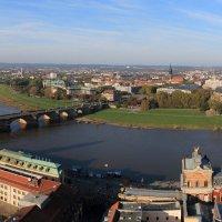 Дрезден, вид на Эльбу и Нойштадт с Фрауэнкирхе :: Тимофей Черепанов