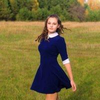 Осень, фотосессия, девушка в платье :: Алена Булдина