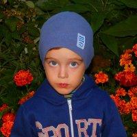 Тимошка и осенние цветы :: Александр Прокудин