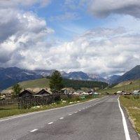 Дорога в пос. Монды. Граница Республики Бурятии с Монголией :: Сергей Михайлов
