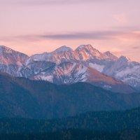 закат в горах :: Алексей Яковлев