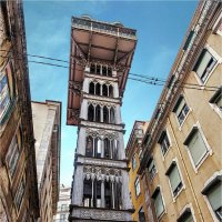 Лифт Санта Жушта со смотровой площадкой в Лиссабоне :: Ирина Лепнёва