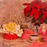Чашка крепкого, сладкого чая... одна на двоих. :: galina tihonova