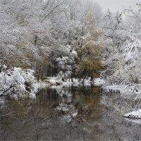 первый снег 12 октября. Новокузнецк. :: Павел Сухоребриков