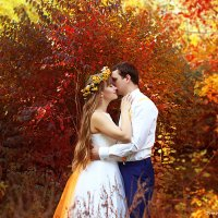 Яркая осенняя свадьба :: Анастасия Тищенко