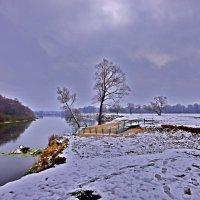 Первый снег на Андреевском луге :: Дубовцев Евгений
