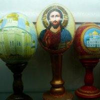 Яйцо страусиное с рисунком (среднее-с рисунком из бисера) :: Надежда