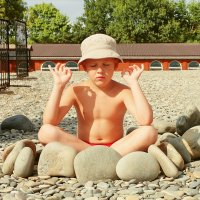 Солнечный Будда (из НАДводной части летних приключений:) :: Дарья Казбанова