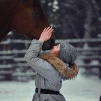 Лошадь и девочка :: Вячеслав Ложкин