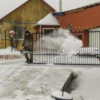 Рыба мечет икру, а мужики снег мечут...)) :: Владимир Хиль