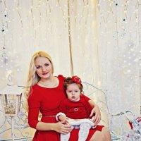 Новогодняя фотосессия мамы с дочкой :: марина алексеева