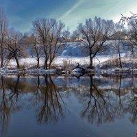 зимнее отражение :: юрий иванов