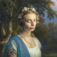 Дама на фоне леса :: Олег Дроздов