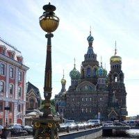Вид на Спас на крови с Театрального моста :: Елена Павлова (Смолова)