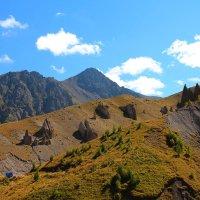 Загадочные камни в урочище Джилы-Су. Вид на г. Каракая (3350 м.) :: Vladimir 070549