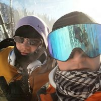 Друзья на зимних развлечениях. :: Мила Бовкун