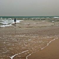 Девушка в синем и море :: Владимир Брагилевский