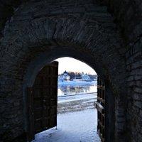 Вид на Мирожский монастырь через Покровские ворота :: Fededuard Винтанюк