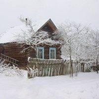 Замело пургой, заметелило деревянный, старенький дом :: Павлова Татьяна Павлова