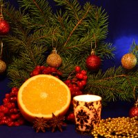Натюрморт с апельсином :: Татьяна Евдокимова