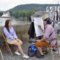 Нарисуй меня так, чтобы Друг обхохотался. :: Николай Ярёменко