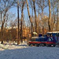 Зима в детском парке им. Энгельса. :: Пётр Сесекин