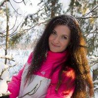 Снег на волосах. :: Александр Кемпанен