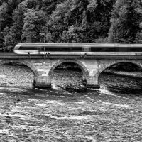 High-speed train on the Rhine :: Dmitry Ozersky