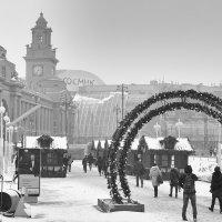 Москва, площадь Европы. Снегопад. :: Игорь Герман